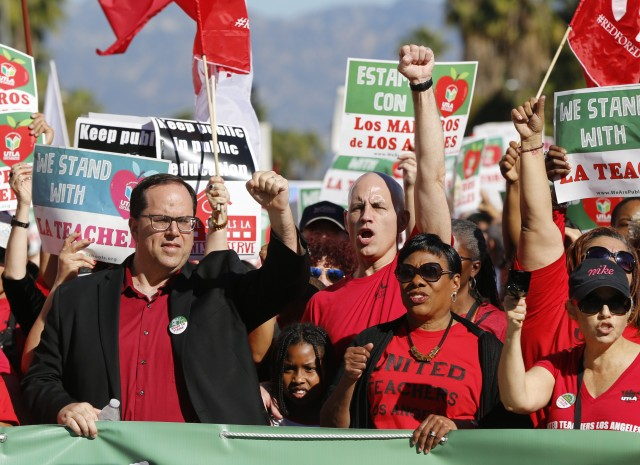 la teachers strike